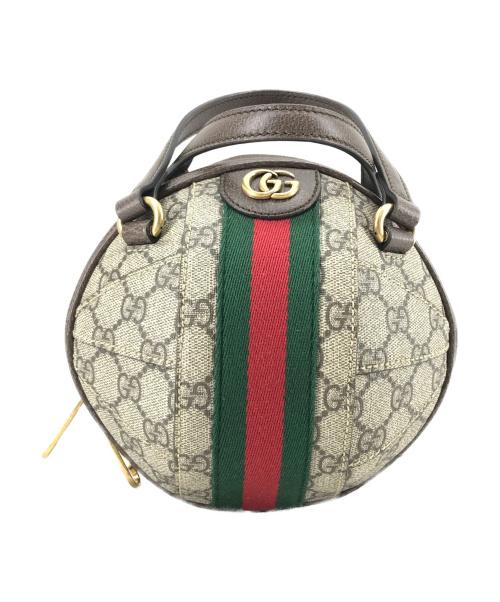 GUCCI(グッチ)GUCCI (グッチ) オフィディアGG ボール型ショルダーバッグ ブラウン 525040の古着・服飾アイテム