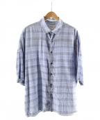 SHAREEF(シャリーフ)の古着「オープンカラーシャツ」 サックスブルー