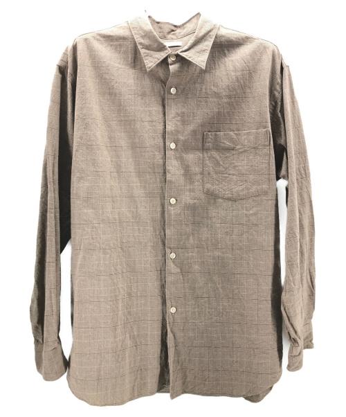 leno(リノ)LENO (リノ) オーバーサイズチェックシャツ ベージュ サイズ:2の古着・服飾アイテム