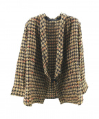 THE Sakaki(ザ サカキ)の古着「ツイード作務衣ジャケット」|ベージュ