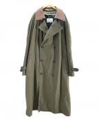 london fog(ロンドンフォグ)の古着「ライナー付襟切替トレンチコート」 カーキ
