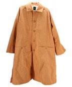 ()の古着「COAT/LINEN CANVAS」|オレンジ