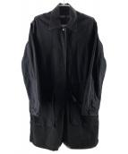 ()の古着「後染めステンカラーコート」|グレー