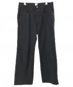 kaiko(カイコー)の古着「ワーカーカットストレートパンツ」|ブラック
