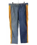 77circa(ナナナナサーカ)の古着「リメイクサイドラインデニムパンツ」|インディゴ