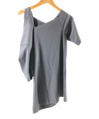 TOGA ARCHIVES(トーガアーカイブス)の古着「Ponch Jersey Cut Out Top」|グレー