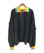 BASE MARK(ベースマーク)の古着「Sustainable Collar Polo Shirts」|ブラック