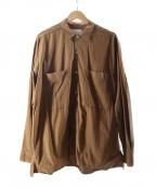 CURLY(カーリー)の古着「スナップボタンシャツ」 ブラウン