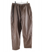 ()の古着「FAKE LEATHER VACANT EASY PANTS」|ブラウン