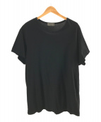 YohjiYamamoto pour homme(ヨウジヤマモトプールオム)の古着「カルティマ天竺丸首Tシャツ」 ブラック