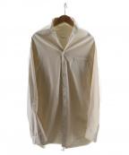 whowhat(フーワット)の古着「ノーカラーシャツ」|ベージュ