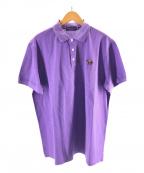 RALPH LAUREN PurpleLabel(ラルフローレン パープルレーベル)の古着「ロゴエンブロイダリーポロシャツ」|パープル