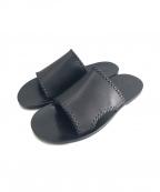 DAIRIKU(ダイリク)の古着「Billy Hand Stitch Leather Sand」 ブラック