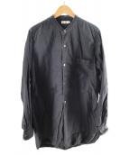 ()の古着「STANDCOLLAR LONG SHIRT」 ブラック