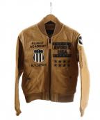 AVIREX(アヴィレックス)の古着「GOAT MA-1 UNITED STATE」 ベージュ