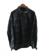 SHINYA KOZUKA(シンヤコズカ)の古着「フランネルシャツジャケット」|ネイビー