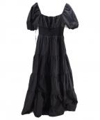 eimy istoire(エイミーイストワール)の古着「ティアードコットンデイリードレス」|ブラック
