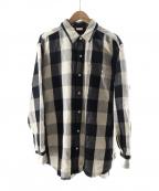 MAISON EUREKA(メゾン エウレカ)の古着「チェックシャツ」|ホワイト×ブラック