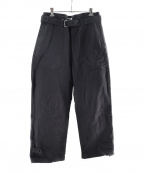 PHIGVEL MAKERS(フィグベルマーカーズ)の古着「CYCLIST TROUSERS」|ブラック