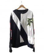 FACETASM()の古着「RUGBY MIX RIB SWEAT SHIRT」|ブラック