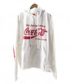 FACETASM(ファセッタズム)の古着「Coca-Cola XXL BIG HOODIE」 ホワイト