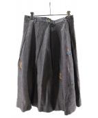 45R(フォーティファイブアール)の古着「インディゴギマツイード刺繍スカート」|グレー