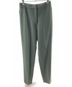 H BEAUTY&YOUTH(エイチビューティアンドユース)の古着「DOUBLE CLOTH SLIT PANTS」 グリーン