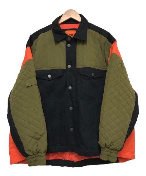 AIGLE×KOCHE'(エーグル×コシェ)AIGLE×KOCHE' (エーグル×コシェ) ドゥドゥネジャケット ブラック×カーキ サイズ:US 36/38の古着・服飾アイテム