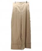 CLANE(クラネ)の古着「H/W ROLL UP WIDE PANTS」|ベージュ