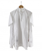 Thom Browne(トムブラウン)の古着「Aラインオックスフォードシャツ」|ホワイト