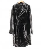 tricot COMME des GARCONS(トリココムデギャルソン)の古着「PVCコーティングコート」 ブラック