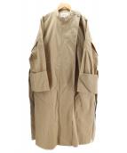 ()の古着「マスターシードツイルスタンドカラーコート」|ベージュ
