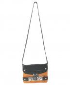 MIHARA YASUHIRO(ミハラヤスヒロ)の古着「デザインショルダーバッグ」|ブラック