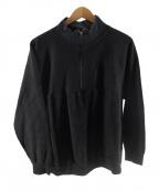 KAPTAIN SUNSHINE(キャプテンサンシャイン)の古着「coveredwool cotton sweat」|ブラック