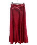 CADUNE(カデュネ)の古着「リネンスカート」 レッド