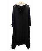 COMME des GARCONS(コムデギャルソン)の古着「シアーワンピース」|ブラック