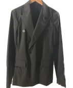 ()の古着「プルオーバーデザインダブルジャケット」 ブラック