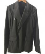 Jean Paul Gaultier homme(ジャンポールゴルチェオム)の古着「プルオーバーデザインダブルジャケット」 ブラック