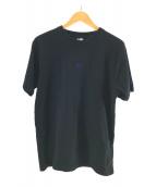 ()の古着「センター刺繍ロゴTシャツ」 ブラック