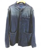 Denham(デンハム)の古着「マオカラーデニムジャケット」 インディゴ