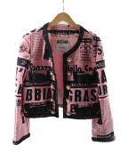 MOSCHINO(モスキーノ)の古着「総柄ジャケット」|ピンク