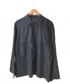 COMOLI(コモリ)の古着「Silk Utility Jacket」|ネイビー