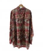 IROQUOIS(イロコイ)の古着「ペイズリーカモビッグシルエットシャツ」 レッド