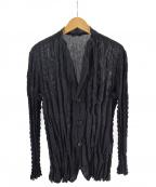 ISSEY MIYAKE MEN()の古着「プリーツメッシュテーラードジャケット」|ブラック