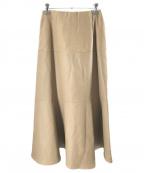 RHC Ron Herman(RHCロンハーマン)の古着「Eco Leather Skirt」|ベージュ