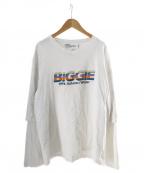 DAIRIKU(ダイリク)の古着「BIGGIELayered T-Shirt」|ホワイト