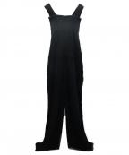 HOMME PLISSE ISSEY MIYAKE()の古着「プリーツオーバーオール」|ブラック