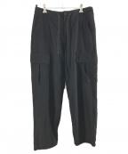 UNIVERSAL PRODUCTS.(ユニバーサルプロダクツ)の古着「SUMMER WOOL CARGO PANTS」 ブラック