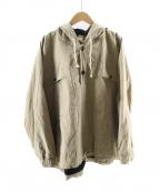 O project(オープロジェクト)の古着「プルオーバーフーデッドジャケット」|ベージュ