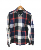 BLACK LABEL CRESTBRIDGE()の古着「チェックシャツ」 ネイビー